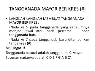 TANGGANADA MAYOR BER KRES (#)