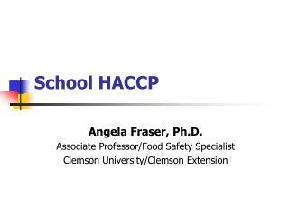 School HACCP