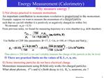 Energy Measurement Calorimetry