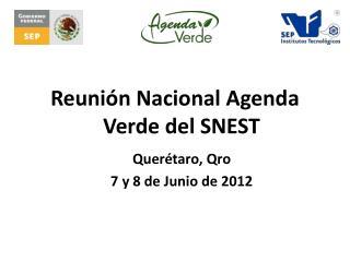 Reunión Nacional Agenda Verde del SNEST