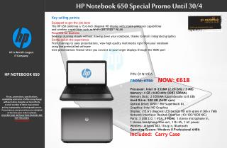 HP NOTEBOOK 650