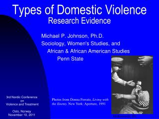 Types of Domestic Violence Research Evidence