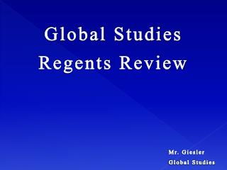 Global Studies Regents Review