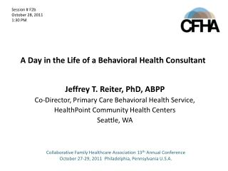 A Day in the Life of a Behavioral Health Consultant