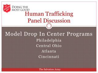 Human Trafficking  Panel Discussion