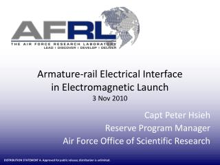 Armature-rail Electrical Interface  in Electromagnetic Launch 3 Nov 2010