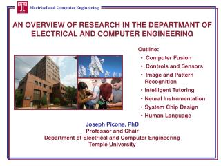 AN OVERVIEW OF RESEARCH IN THE DEPARTMANT OF ELECTRICAL AND COMPUTER ENGINEERING