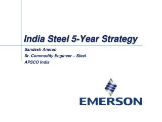 India Steel 5-Year Strategy