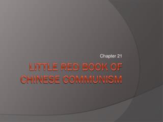 Little Red Book of  Chinese Communism
