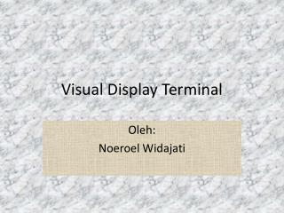 Visual Display Terminal