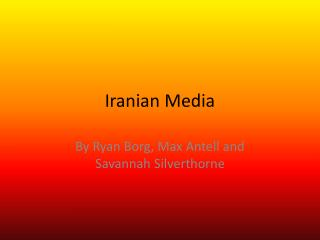 Iranian Media