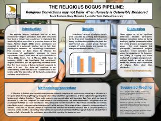 THE RELIGIOUS BOGUS PIPELINE: