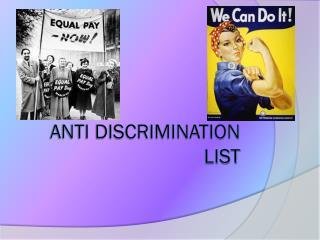 Anti Discrimination List