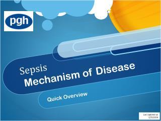 Sepsis  Mechanism of Disease