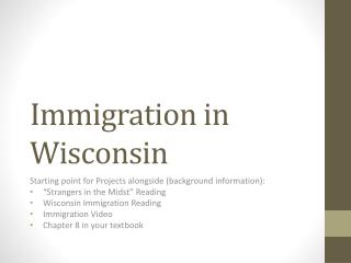 Immigration in Wisconsin