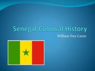 Senegal Colonial History