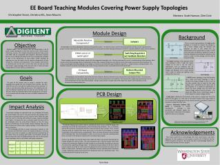 EE Board Teaching Modules  Covering  Power Supply Topologies