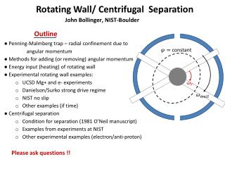 Rotating Wall/ Centrifugal  Separation