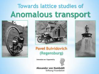 Towards lattice studies of  Anomalous  transport