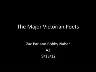 The Major Victorian Poets