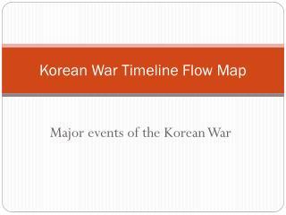 Korean War Timeline Flow Map