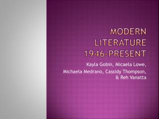 Modern Literature 1946-Present
