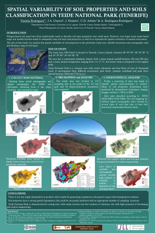 SPATIAL VARIABILITY OF SOIL PROPERTIES AND SOILS CLASSIFICATION IN TEIDE NATIONAL PARK (TENERIFE)