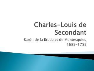 Charles-Louis de Secondant