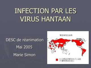 INFECTION PAR LES VIRUS HANTAAN