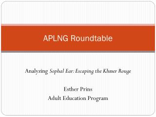 APLNG Roundtable
