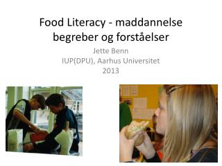 Food  Literacy  - maddannelse begreber og forståelser