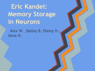 Eric Kandel: Memory Storage in Neurons