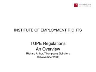 INSTITUTE OF EMPLOYMENT RIGHTS