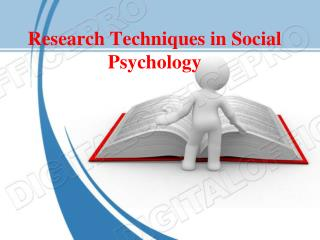 Research Techniques in Social Psychology