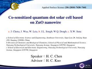 Co-sensitized quantum dot solar cell based on  ZnO nanowire