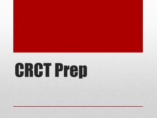 CRCT Prep