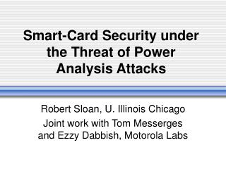 Smart-Card Security under the Threat of Power Analysis Attacks