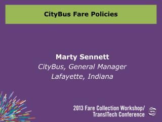 CityBus Fare Policies