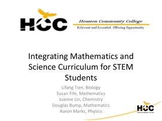 Integrating Mathematics and Science Curriculum for STEM Students