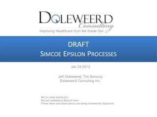 DRAFT Simcoe Epsilon Processes