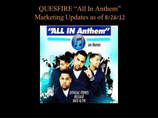 "New Hit Single ""ALL IN"" The Anthem"