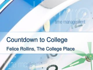 Countdown to College