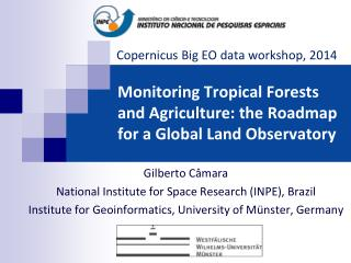 Monitoring Tropical Forests and Agriculture: the Roadmap for a Global Land Observatory