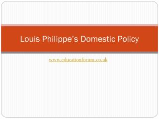 Louis Philippe's Domestic Policy