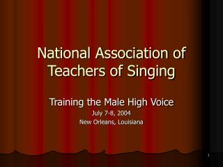 National Association of Teachers of Singing