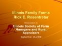 Illinois Family Farms Rick E. Rosentreter