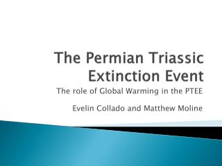 The Permian Triassic Extinction Event
