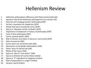 Hellenism Review