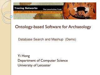Ontology-based Software for Archaeology
