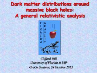 Dark matter distributions around  massive black holes:  A general relativistic analysis